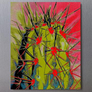 Avacado Cactus Framed