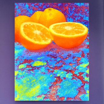 Tangerine Scene Framed