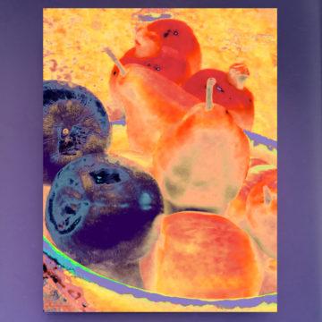 Yellow Fruit Bowl Framed