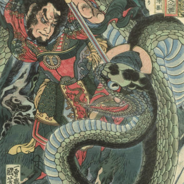 Chusenko Teitokuson – Attacked by Poisonous Snake