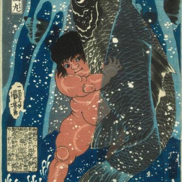 Sakata Kaidomaru – Kintaro and the Carp