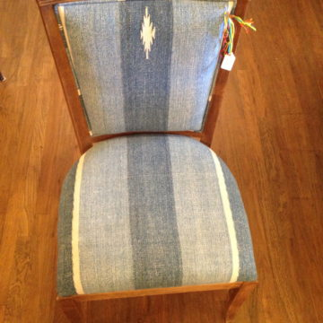 Blue Dhurrie Chair I