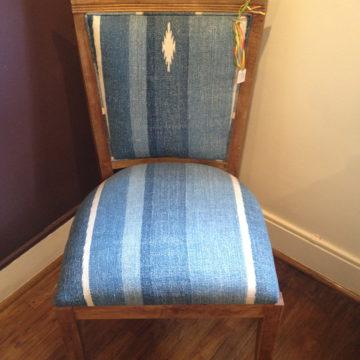 Blue Dhurrie Chair II