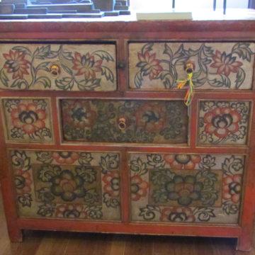 Tibetan Cabinet Floral