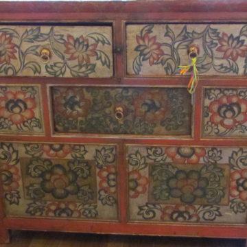 Tibetan Cabinet Floral close