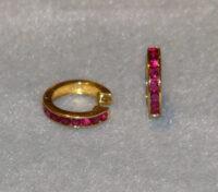Ruby Hoop Earrings