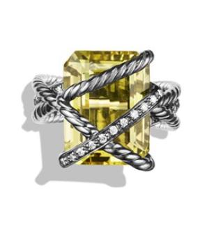 Yurman Silver Citrine and Diamonds
