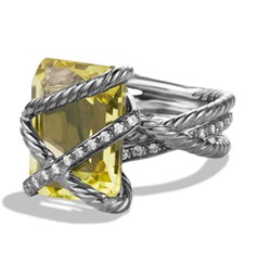 Yurman Silver Citrine and Diamonds2