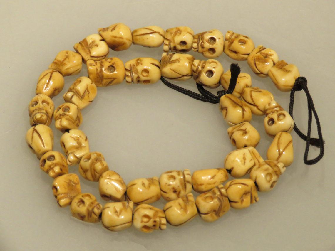 Tibetan Ox Bone Necklace Abbate Fine Art