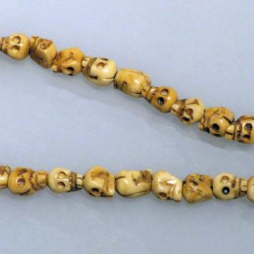 9mm Carved Oxbone skull beads3 web