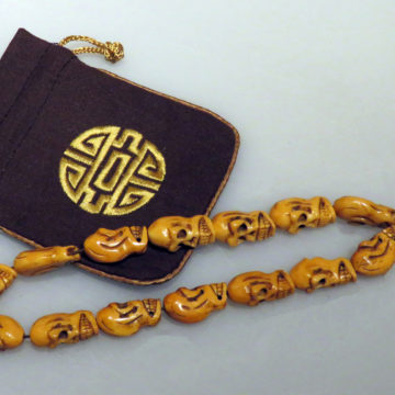 Rare Vintage 30mm Yak Bone Prayer Beads web